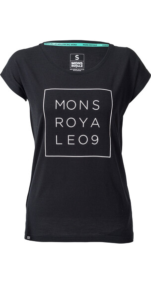 Mons Royale W's Cali Cap Square T-Shirt Black